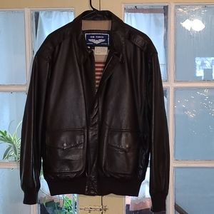 Air force airborne leather jacket